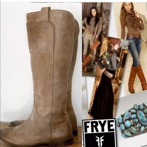 FRYE Paige Tall Leather Riding Boots SZ 8 77534